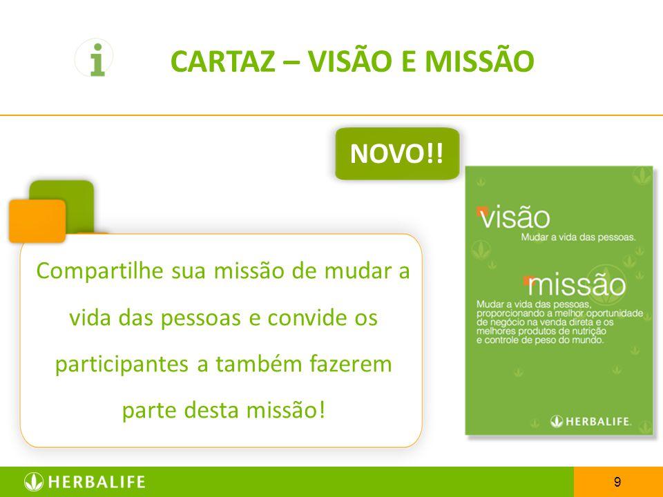 CARTAZ – VISÃO E MISSÃO NOVO!!