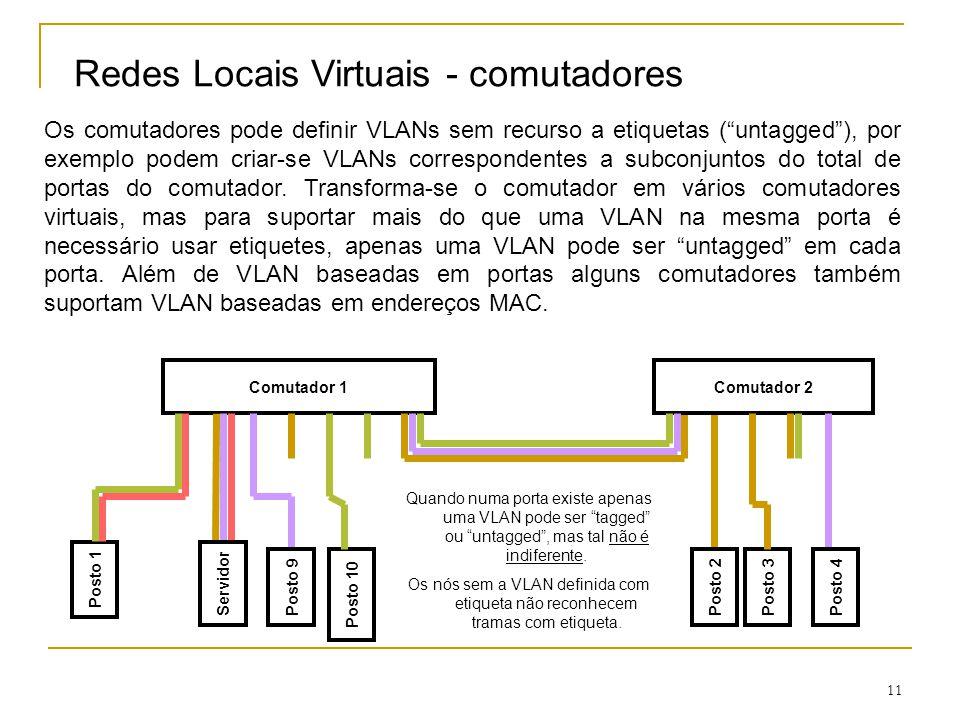Redes Locais Virtuais - comutadores