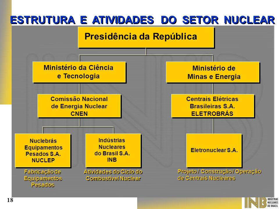 ESTRUTURA E ATIVIDADES DO SETOR NUCLEAR