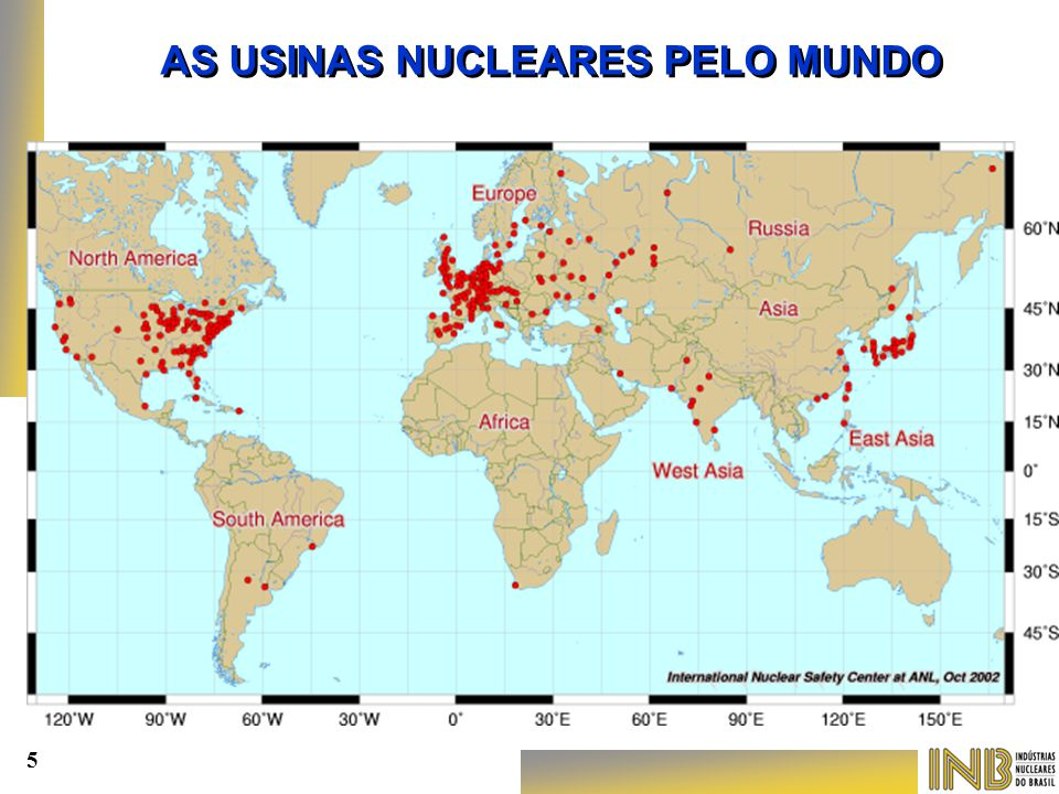 AS USINAS NUCLEARES PELO MUNDO
