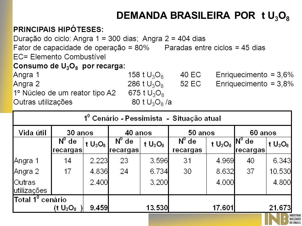 DEMANDA BRASILEIRA POR t U3O8