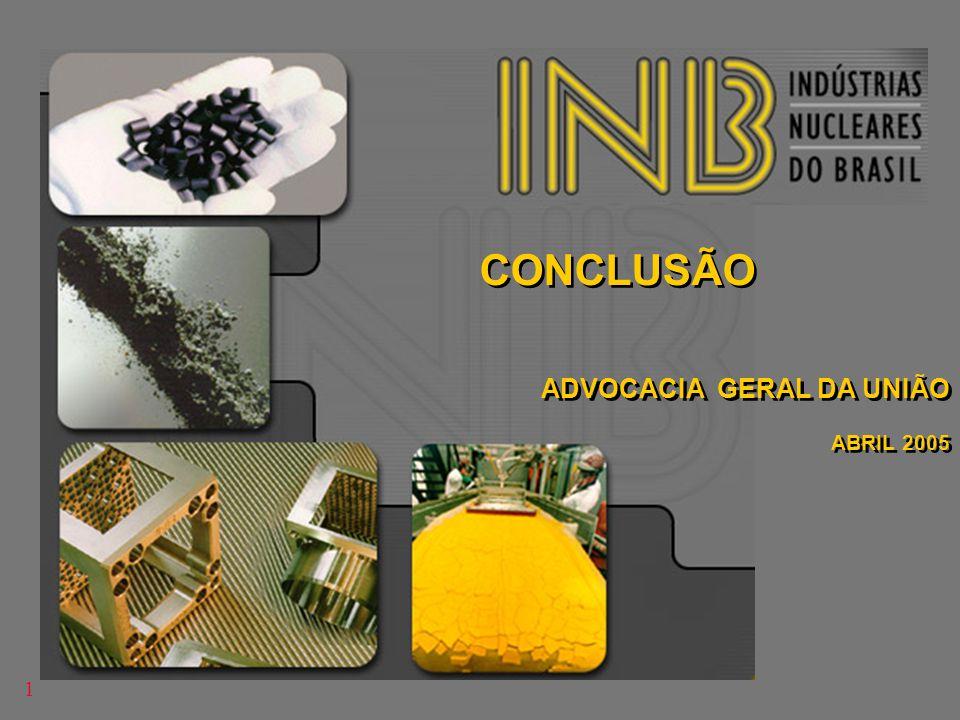 CONCLUSÃO ADVOCACIA GERAL DA UNIÃO ABRIL 2005 1