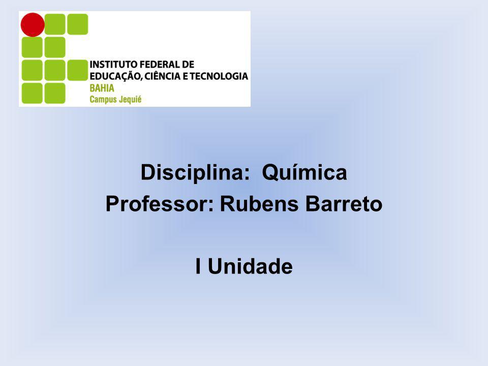 Professor: Rubens Barreto