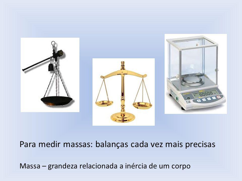 Para medir massas: balanças cada vez mais precisas