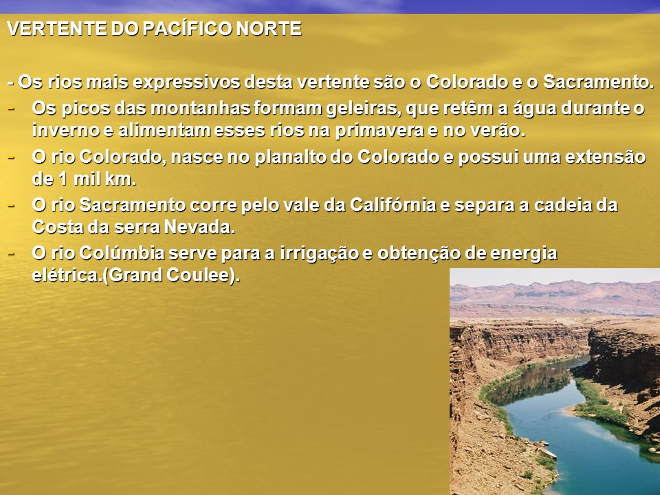 VERTENTE DO PACÍFICO NORTE