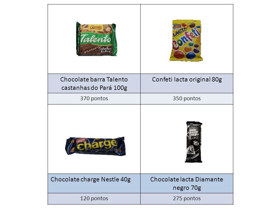 Chocolate barra Talento castanhas do Pará 100g