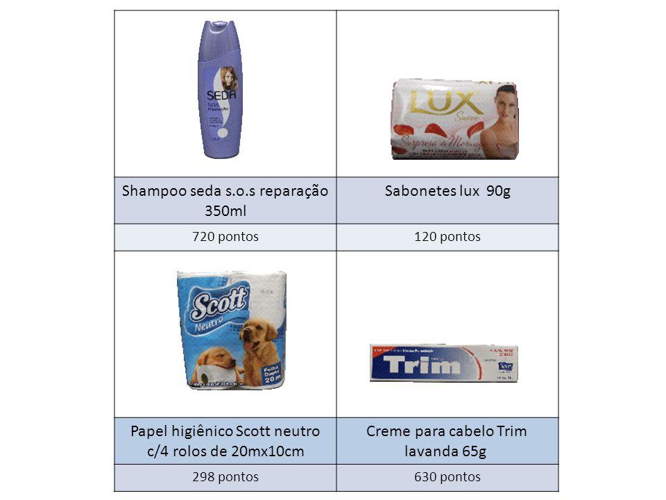 Shampoo seda s.o.s reparação 350ml Sabonetes lux 90g