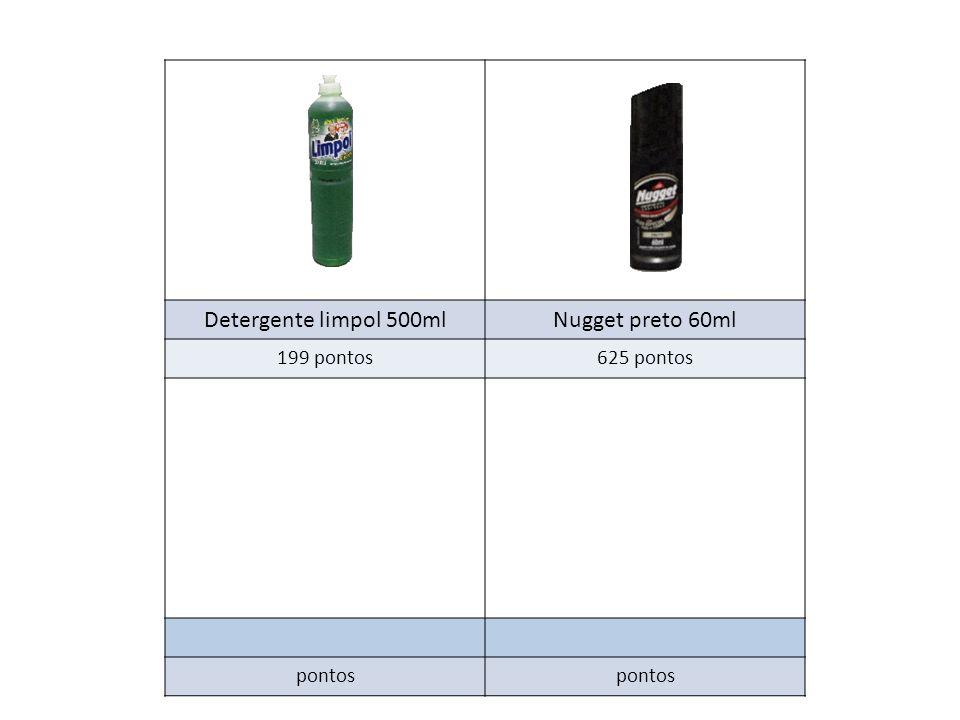 Detergente limpol 500ml Nugget preto 60ml 199 pontos 625 pontos pontos