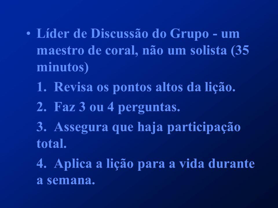 Líder de Discussão do Grupo - um maestro de coral, não um solista (35 minutos)