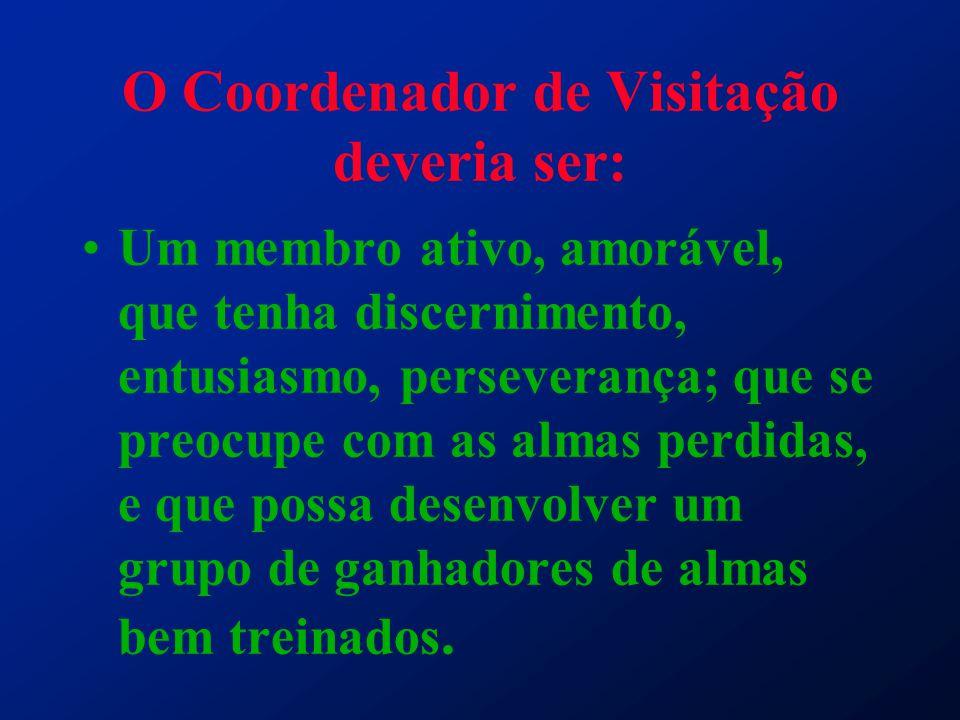 O Coordenador de Visitação deveria ser: