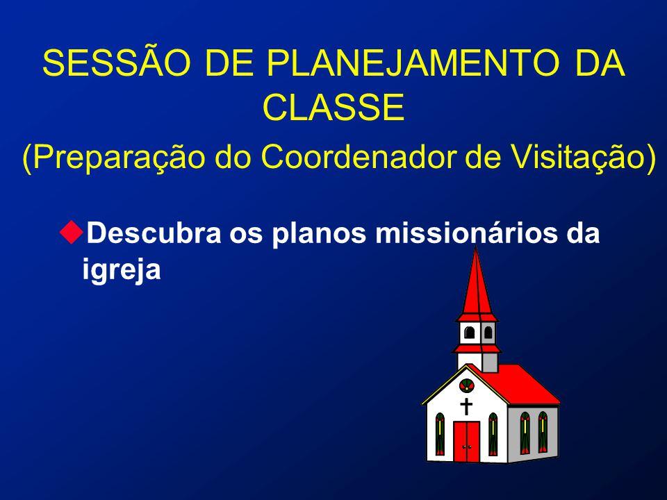 SESSÃO DE PLANEJAMENTO DA CLASSE (Preparação do Coordenador de Visitação)