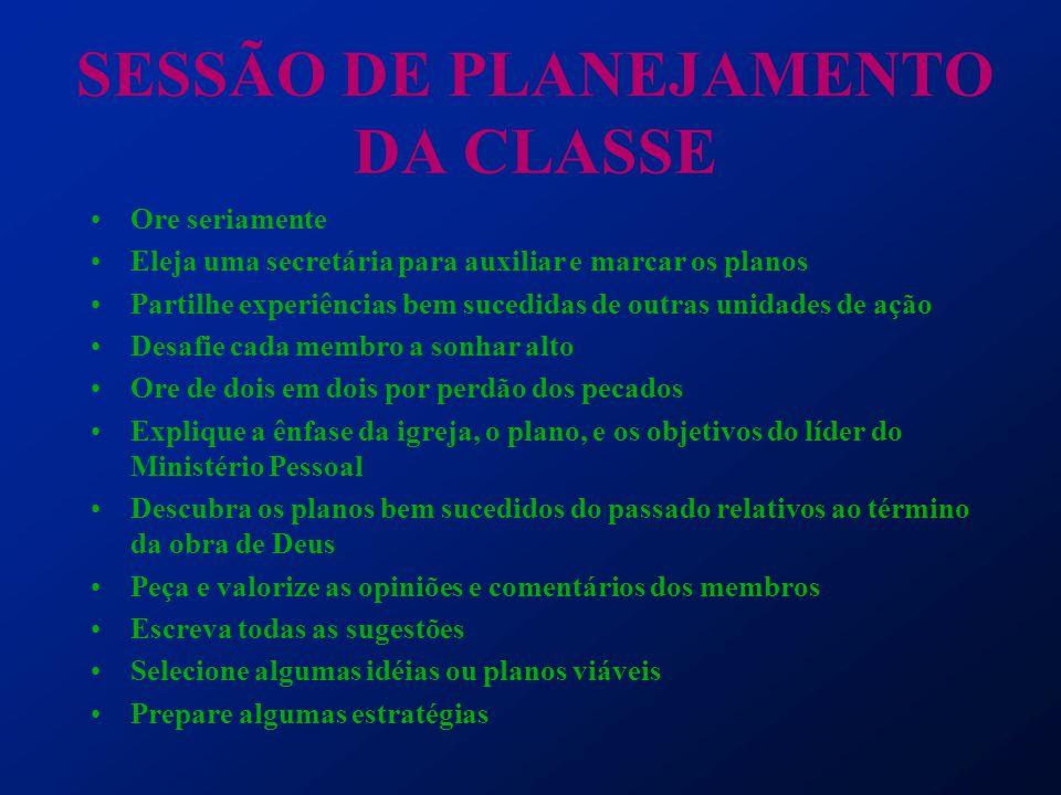 SESSÃO DE PLANEJAMENTO DA CLASSE