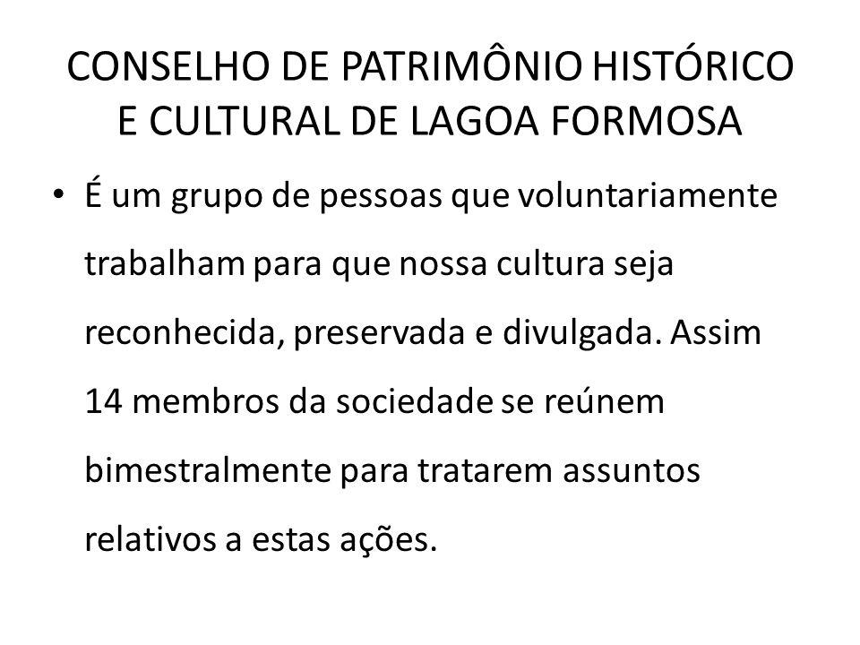 CONSELHO DE PATRIMÔNIO HISTÓRICO E CULTURAL DE LAGOA FORMOSA
