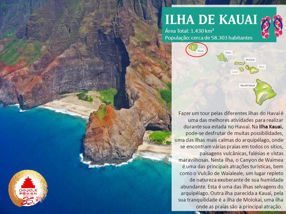 ILHA DE KAUAI Área Total: 1.430 km²