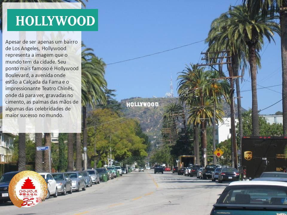 Apesar de ser apenas um bairro de Los Angeles, Hollywood representa a imagem que o mundo tem da cidade. Seu ponto mais famoso é Hollywood Boulevard, a avenida onde estão a Calçada da Fama e o impressionante Teatro Chinês, onde dá para ver, gravadas no cimento, as palmas das mãos de algumas das celebridades de maior sucesso no mundo.