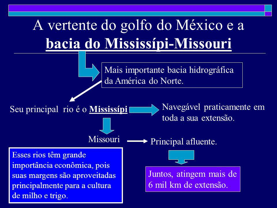 A vertente do golfo do México e a bacia do Mississípi-Missouri