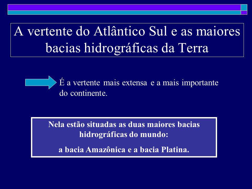 A vertente do Atlântico Sul e as maiores bacias hidrográficas da Terra