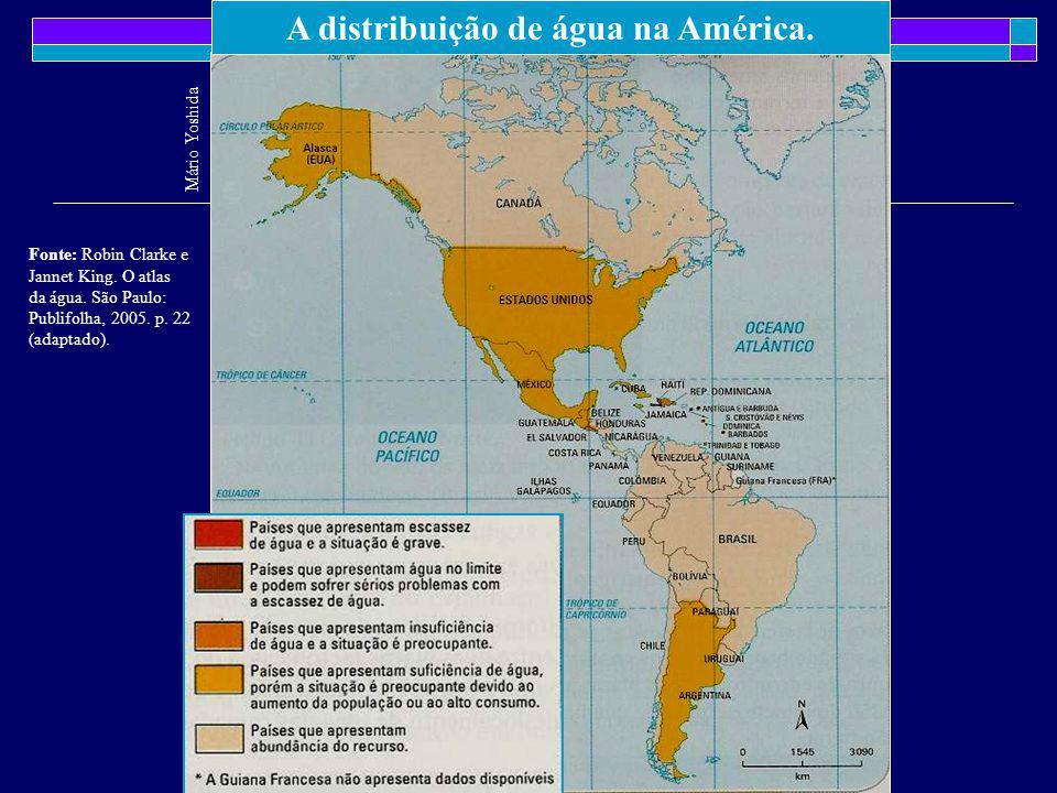 A distribuição de água na América.