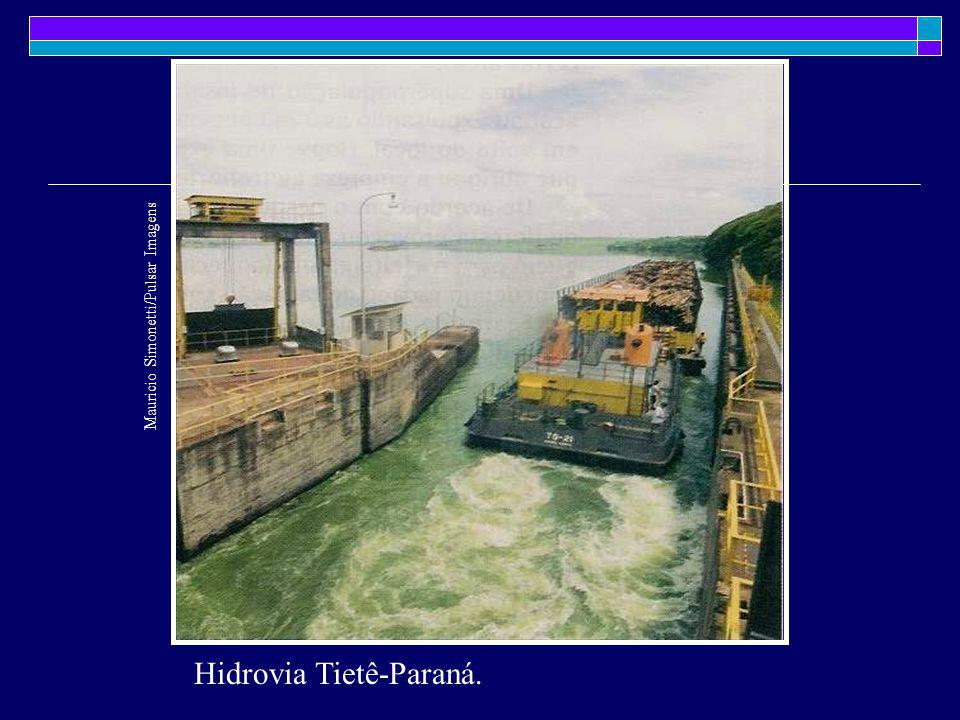 Hidrovia Tietê-Paraná.