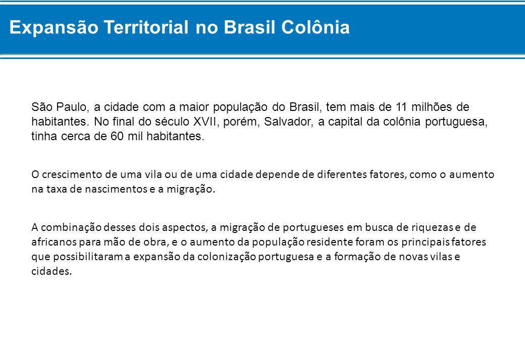 Expansão Territorial no Brasil Colônia