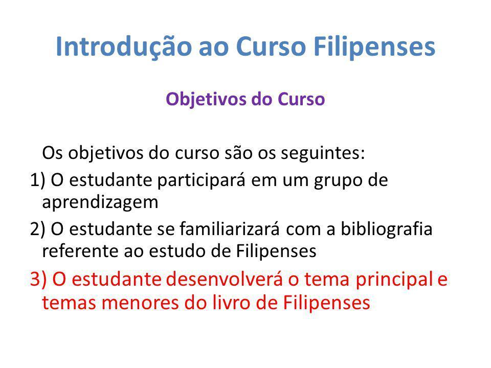 Introdução ao Curso Filipenses