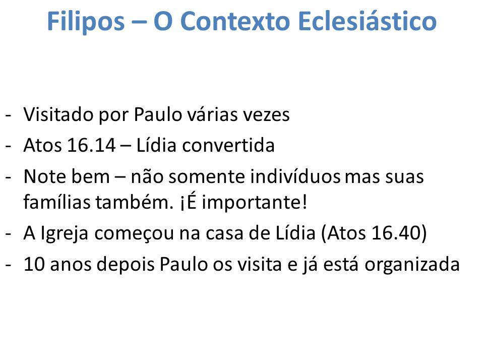 Filipos – O Contexto Eclesiástico