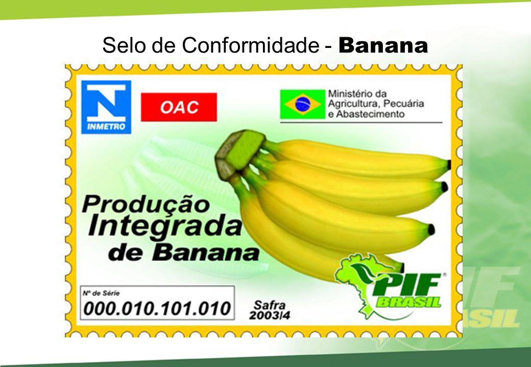 Selo de Conformidade - Banana