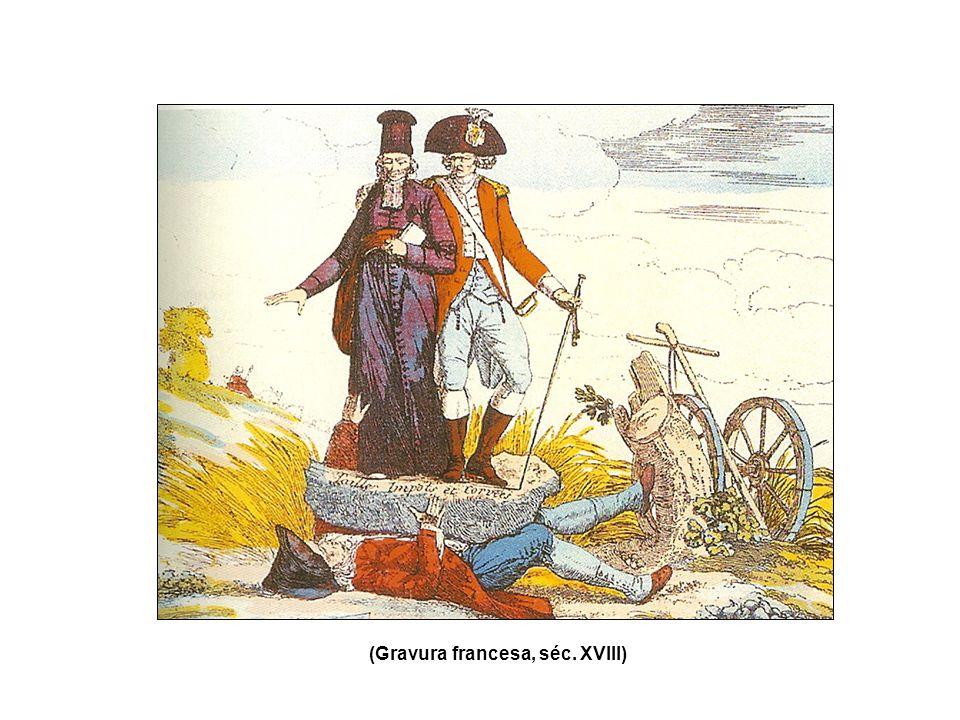 (Gravura francesa, séc. XVIII)