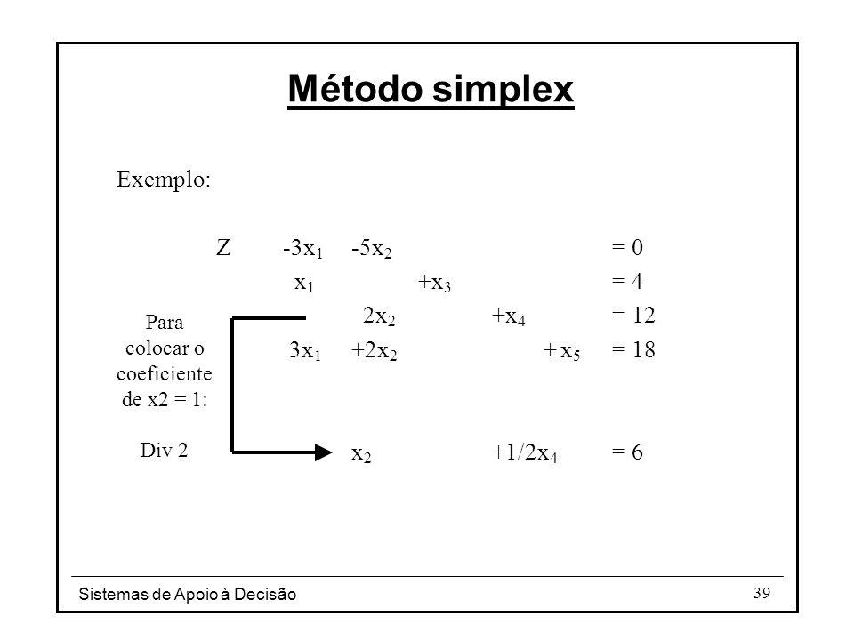 Para colocar o coeficiente de x2 = 1: