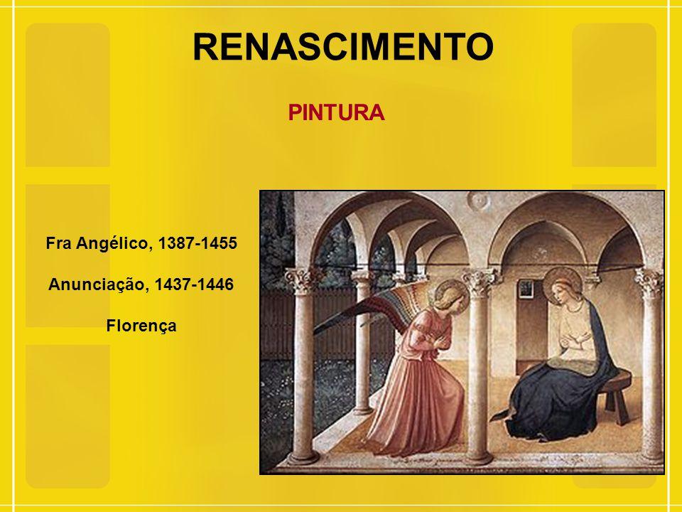 RENASCIMENTO PINTURA Fra Angélico, 1387-1455 Anunciação, 1437-1446
