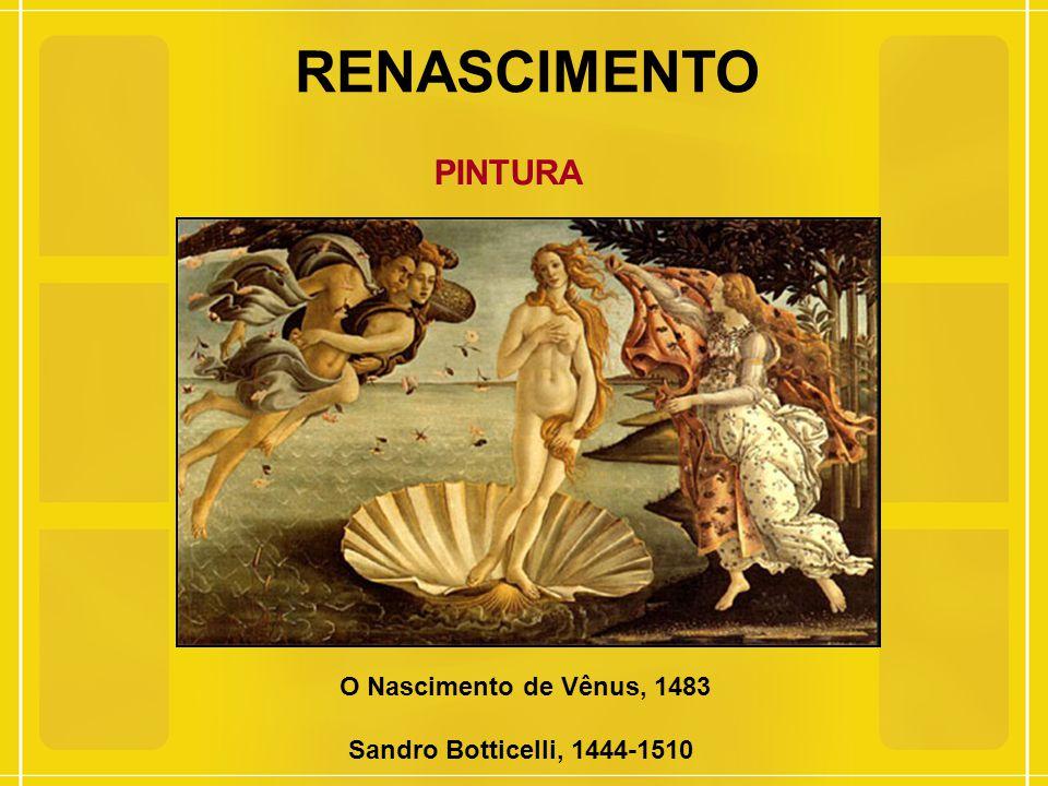 RENASCIMENTO PINTURA O Nascimento de Vênus, 1483