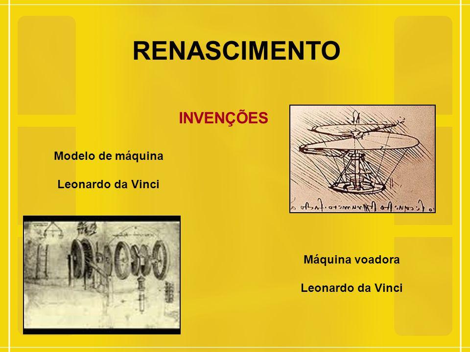 RENASCIMENTO INVENÇÕES Modelo de máquina Leonardo da Vinci