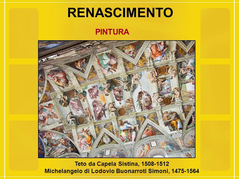 RENASCIMENTO PINTURA Teto da Capela Sistina, 1508-1512