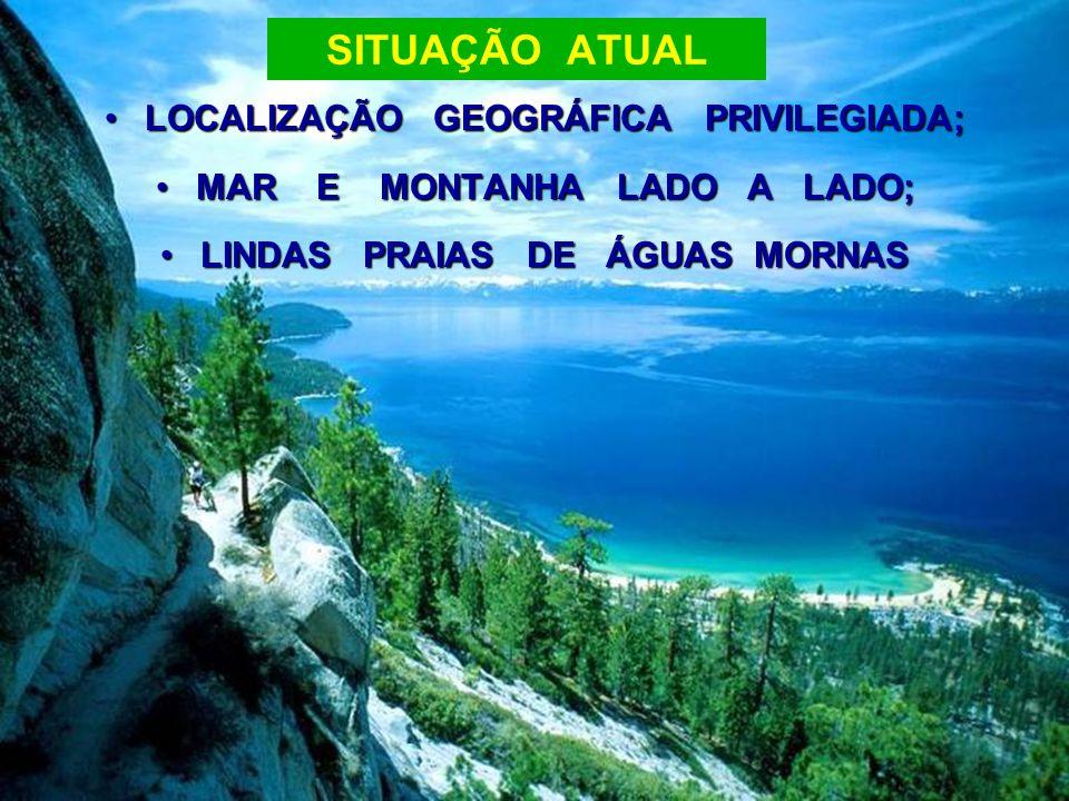 SITUAÇÃO ATUAL LOCALIZAÇÃO GEOGRÁFICA PRIVILEGIADA;