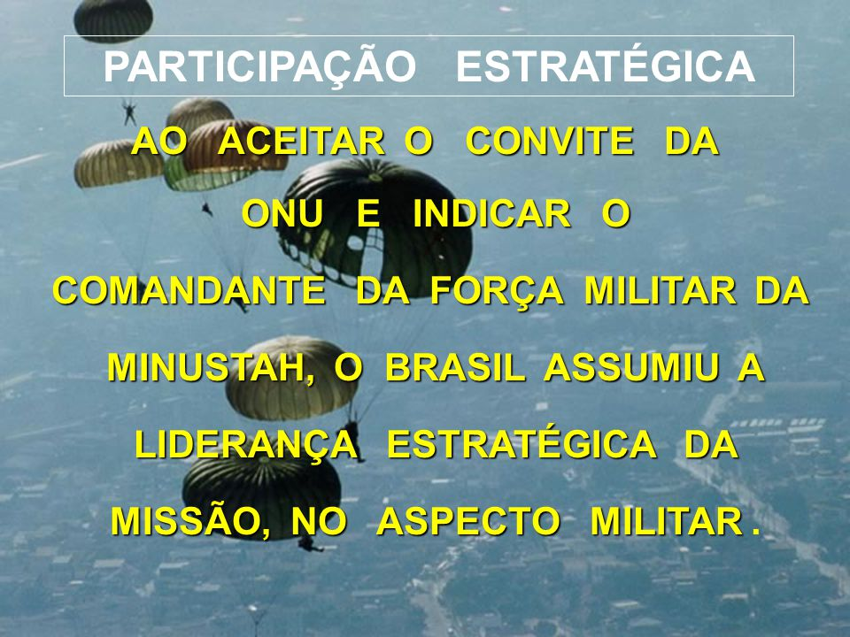 PARTICIPAÇÃO ESTRATÉGICA