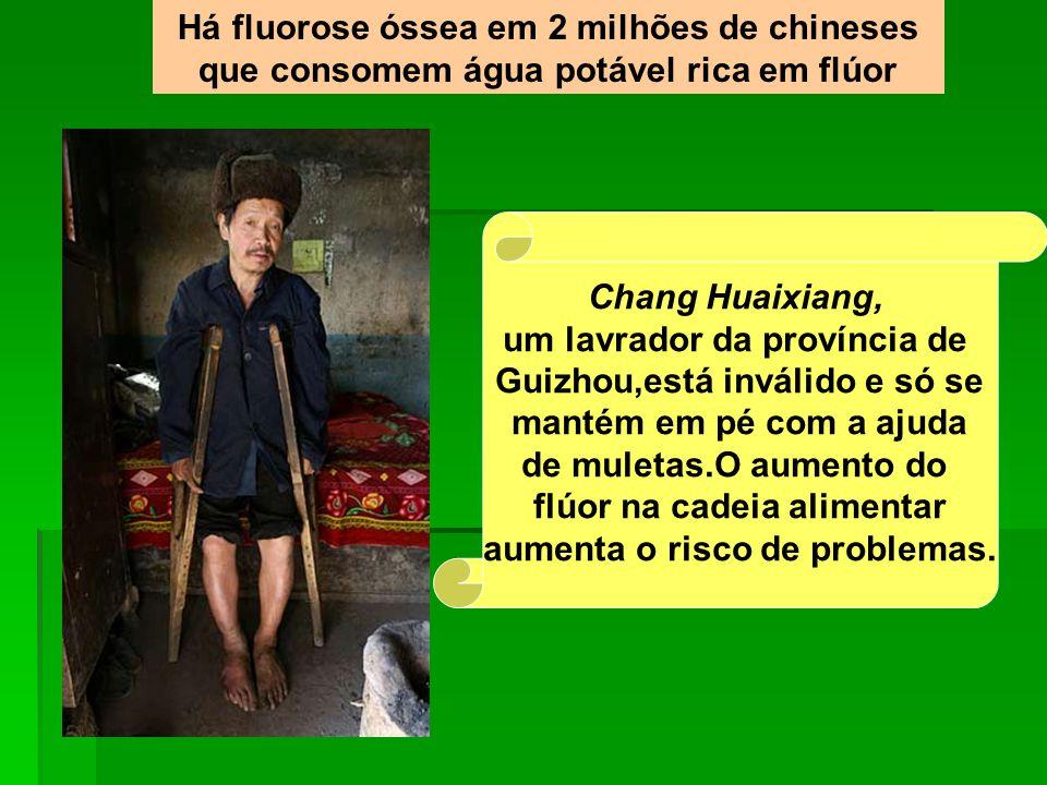 um lavrador da província de Guizhou,está inválido e só se