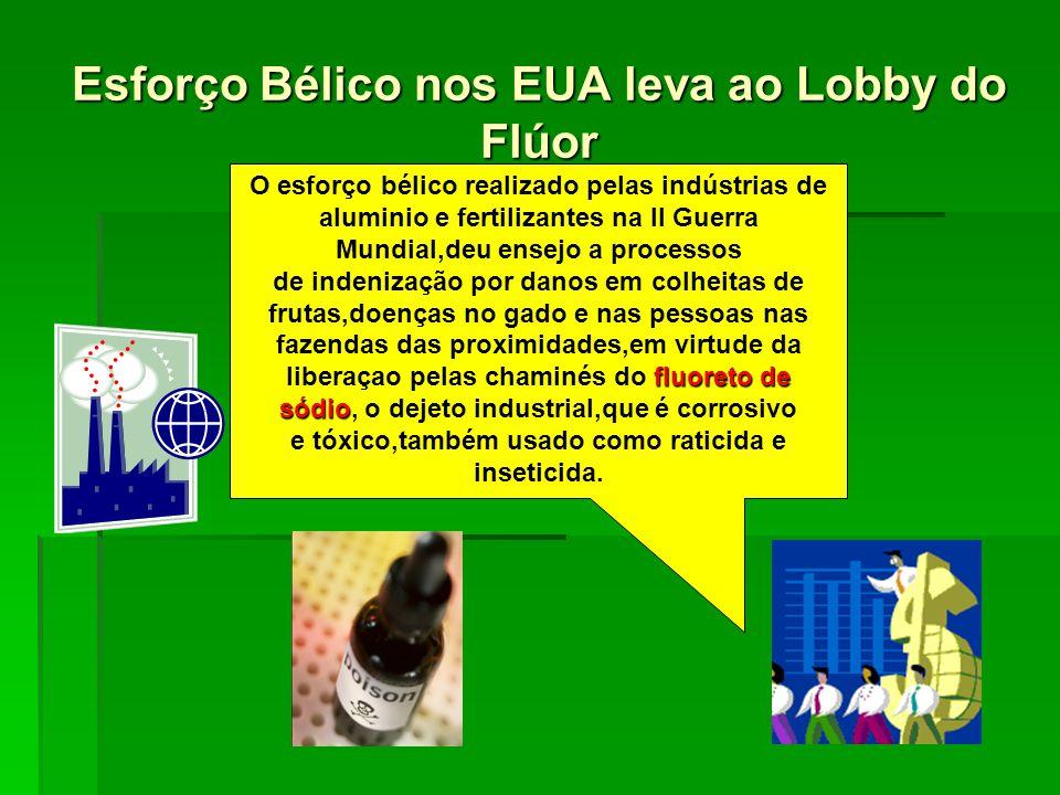 Esforço Bélico nos EUA leva ao Lobby do Flúor