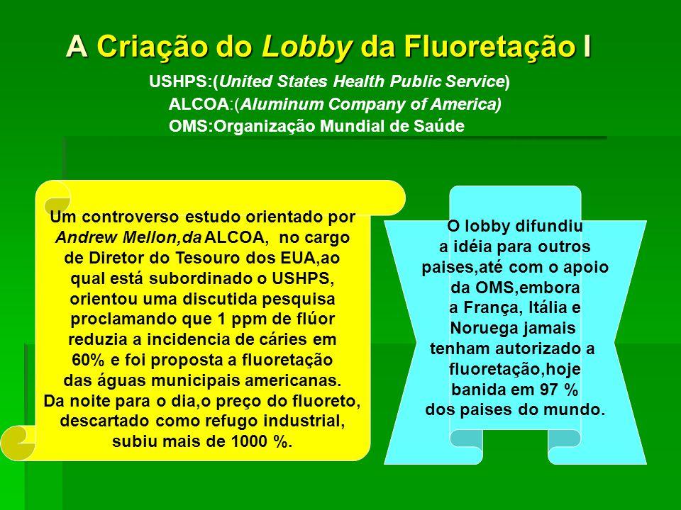 A Criação do Lobby da Fluoretação I