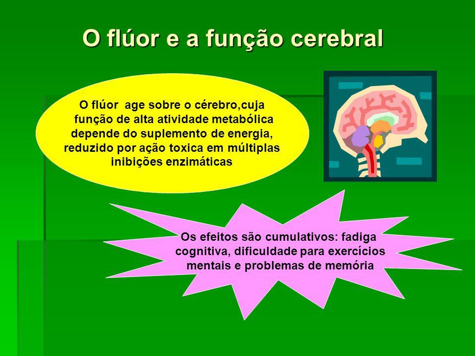 O flúor e a função cerebral