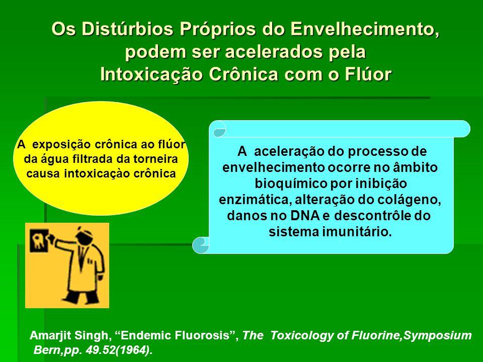 Os Distúrbios Próprios do Envelhecimento, podem ser acelerados pela Intoxicação Crônica com o Flúor