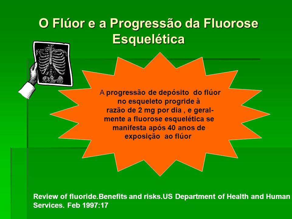 O Flúor e a Progressão da Fluorose Esquelética