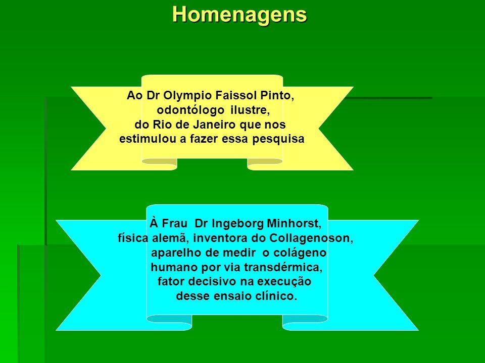 Homenagens Ao Dr Olympio Faissol Pinto, odontólogo ilustre,