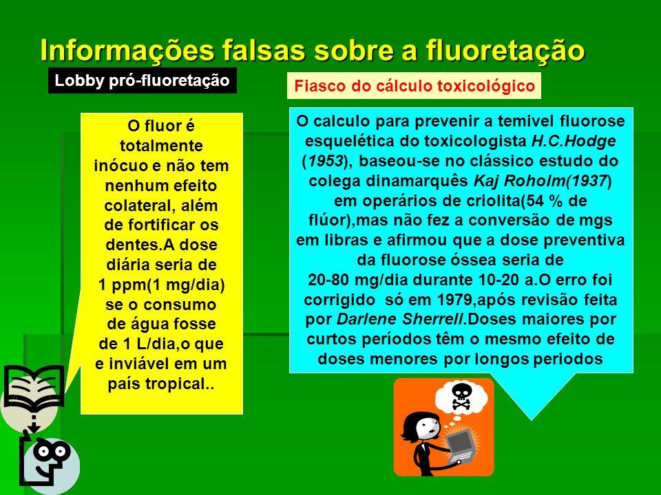 Informações falsas sobre a fluoretação