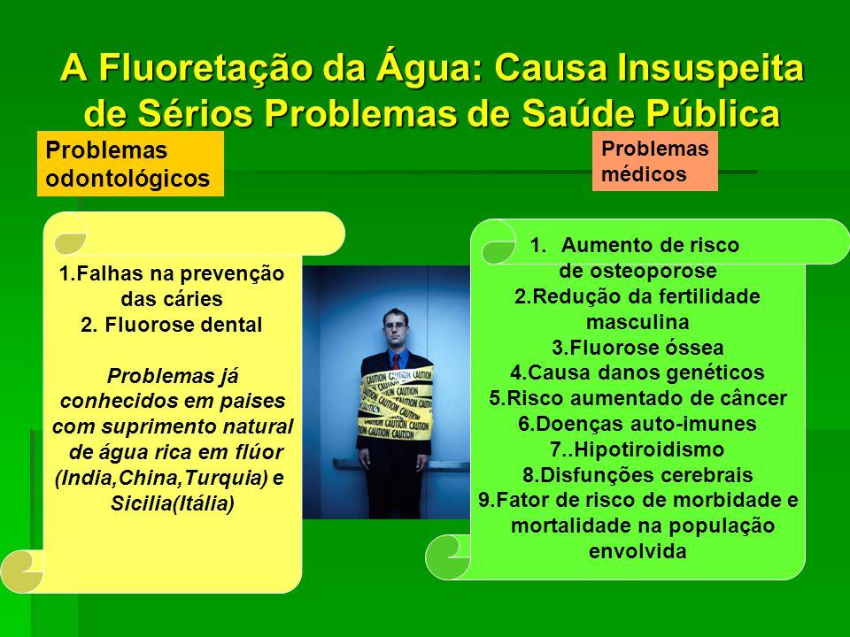 A Fluoretação da Água: Causa Insuspeita de Sérios Problemas de Saúde Pública