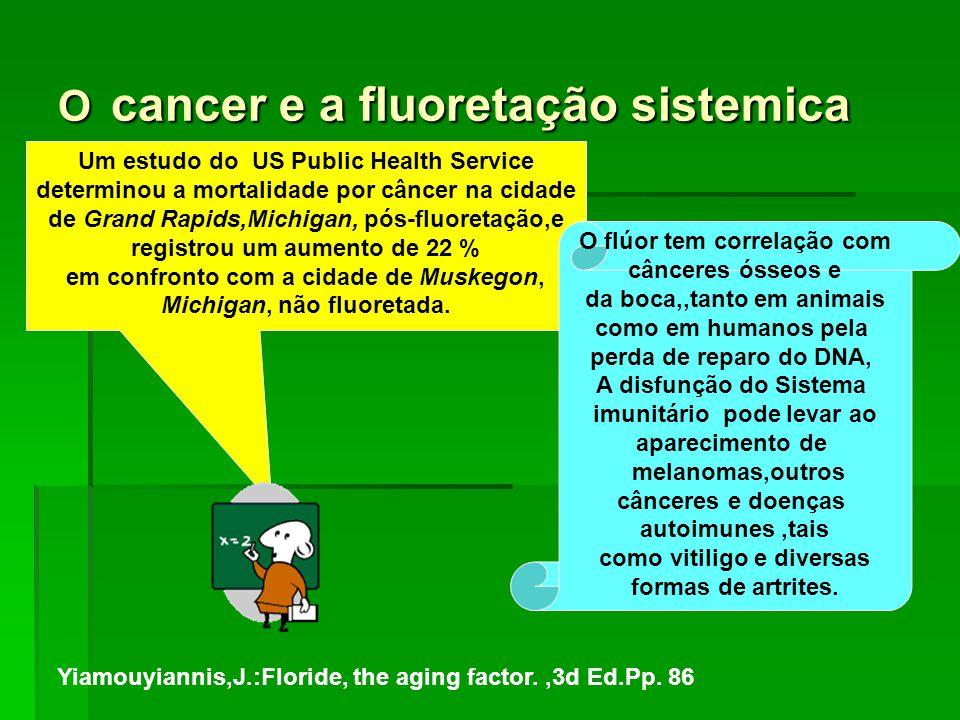 O cancer e a fluoretação sistemica