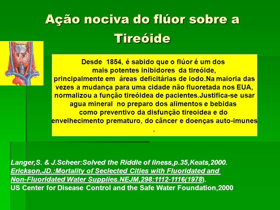 Ação nociva do flúor sobre a Tireóide