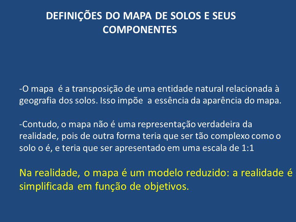 DEFINIÇÕES DO MAPA DE SOLOS E SEUS COMPONENTES