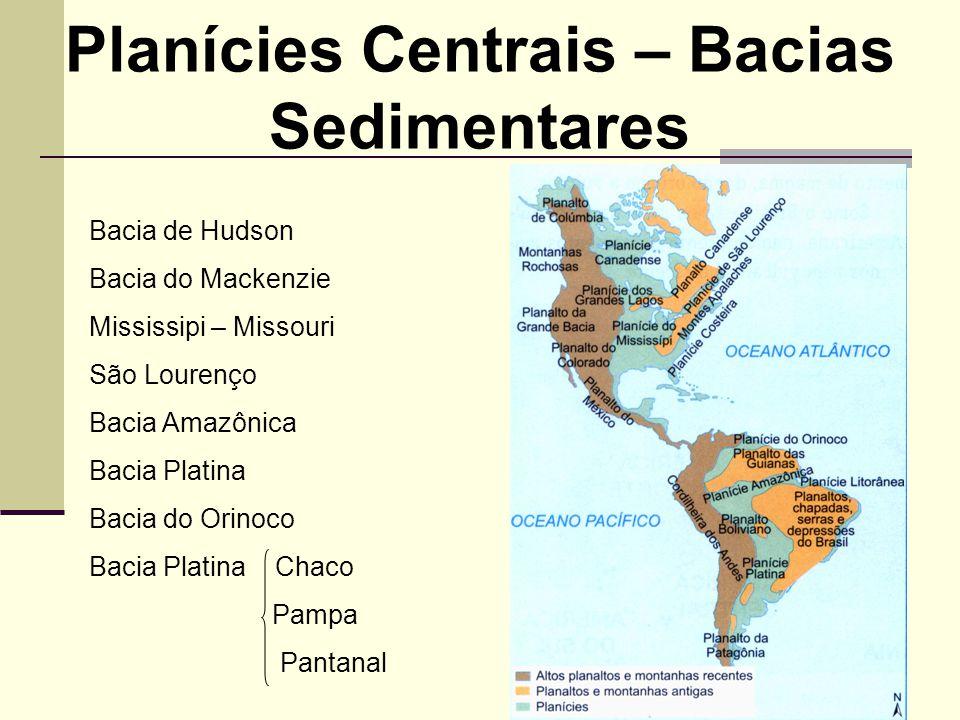 Planícies Centrais – Bacias Sedimentares