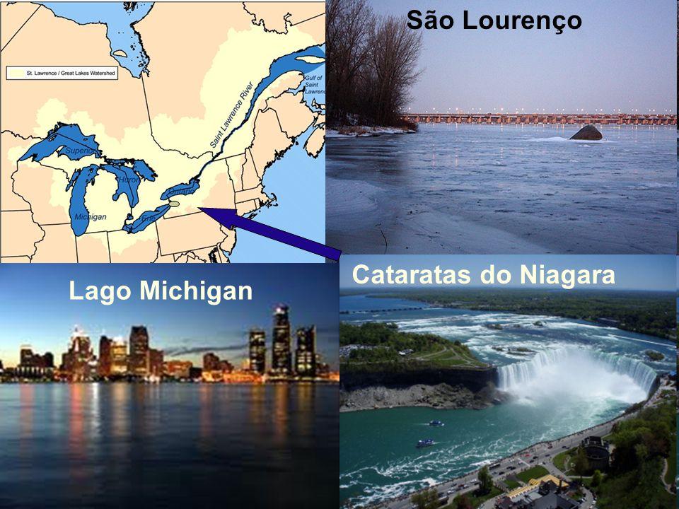 São Lourenço Cataratas do Niagara Lago Michigan