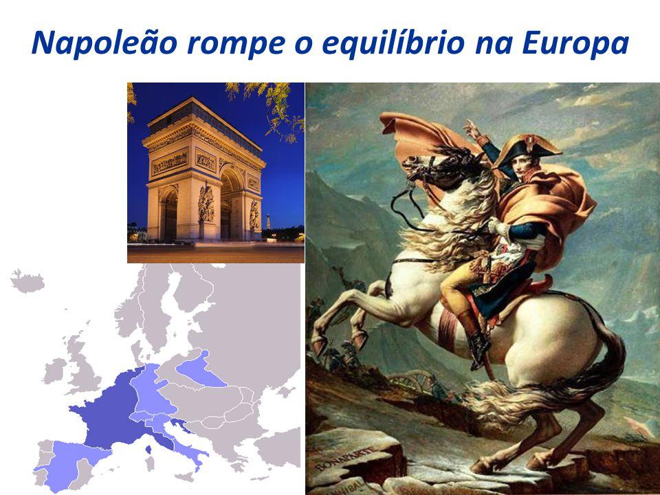 Napoleão rompe o equilíbrio na Europa